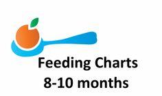 8-10 Month Old Feeding Chart and Menu | Puree Love