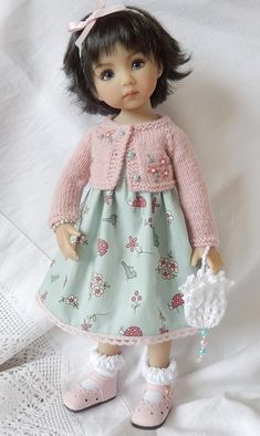 Little Darling Doll outfit Girl Doll Clothes, Girl Dolls, Baby Dolls, White Beaded Dress, Doll Head, Knitted Dolls, Collector Dolls, Little Darlings, Cute Dolls