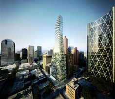 BIG revela a 'Telus Sky' Tower em Calgary, Canadá, © BIG