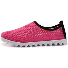 Mens And Womens Summer Breathable Mesh Slippers Beach Sandals Fashion Sneakers Running Shoes Hot Shoes 85 BM US Rose Red *** Be sure to check out this awesome product.