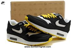 new concept 5ff57 47bc0 New Black White Yellow Nike Air Max 87 Men Shoes Nike Air Max Running, Nike