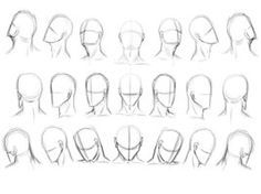 Reference- Head face angles and perspective by ~BlackRabbitExorcist on deviantART