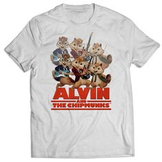 Alvin and the Chipmunks All Character Band T Shirts Mens T Shirt