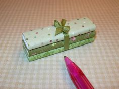 Miniature 3 Bolts of Fabric, Greens: DOLLHOUSE Miniatures 1/12 Scale | eBay