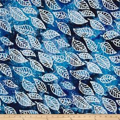 Discount Designer Home Decor upholstery fabric wholesale discount designer home decor blogs home decor store traditional home Indian Batik Cascades Leaf Blue Home Decor Colorsdiscount Designershades