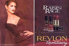 Cindy Crawford for Revlon Makeup Ads, Retro Makeup, Vintage Makeup, Vintage Beauty, 1990s Makeup, Candy Makeup, Elf Makeup, Drugstore Makeup, Revlon Lipstick