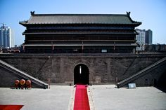 One of the main gates of Xi'an's City Wall, in China