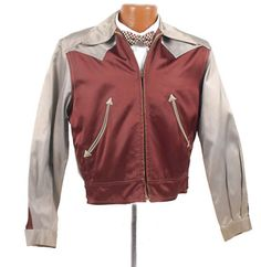 My favorite thing that I'm selling - vintage 40s mens two tone satin western jacket.