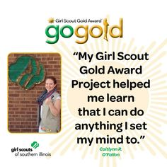 Caitlynn R. from O'Fallon, IL earned the Girl Scout Gold Award for holding healthy cooking classes at area children's camps.