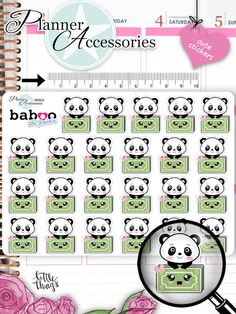 Sticker - Kawaii Panda Payday Sticker Zahltag Sticker NR932 - ein Designerstück von PlannerAccessories bei DaWanda
