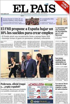 Los Titulares y Portadas de Noticias Destacadas Españolas del 3 de Agosto de 2013 del Diario El País ¿Que le pareció esta Portada de este Diario Español?
