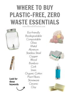 Where to Buy Plastic-Free, Zero Waste Essentials | Green Living TIps | #greenliving #zerowaste #gogreen