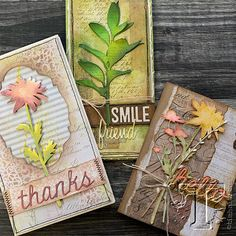 Ideas Vintage Cards Handmade Ideas Tim Holtz For 2019 Tim Holtz Dies, Sizzix Dies, Frantic Stamper, Easter Crafts For Kids, Cool Cards, Flower Cards, Vintage Cards, Cardmaking, Birthday Cards