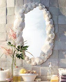 DIY::Sand Dollar Mirror