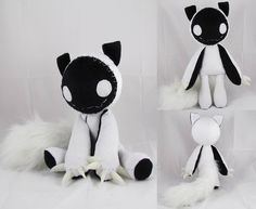 Nightmare by ~MagnaStorm on deviantART - Gothic ✝ Beauty Accessories ✝ - Plush Creepy Stuffed Animals, Sewing Stuffed Animals, Kawaii Stuffed Animals, Sewing Crafts, Sewing Projects, Plushie Patterns, Softie Pattern, Cute Plush, Creepy Cute