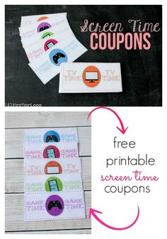 Screen Time Coupons - genius!!