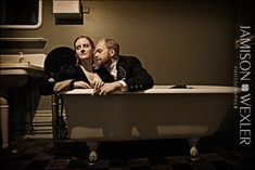 This newly married couple in a tub is my all time favorite wedding portrait! Norwegian Style, Newly Married, Seaside Wedding, Event Photos, Bar Mitzvah, Wedding Portraits, Tub, All About Time, Events