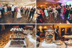 Guests dancing during a wedding reception at The Mill in Spring Lake Heights. Captured by North Jersey wedding photographers at Ben Lau Photography.