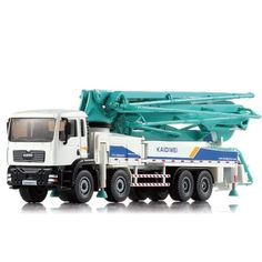 45.00$  Buy now - http://alivlv.worldwells.pw/go.php?t=32783560580 - 1:55 Alloy car Cement Pump Truck Concrete Car Model Metal Car Children Toy Birthday Present Christmas Gift