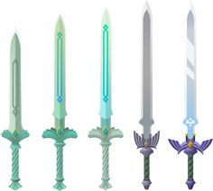 The evolution of the Master Sword in Skyward Sword.