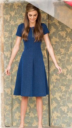 blue simple dress