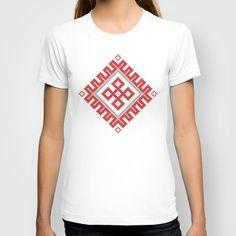 Romanian Traditional Pattern No. 2 T-shirt by Cristian Lungu - $22.00