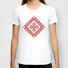 Romanian Traditional Pattern No. 2 T-shirt by Cristian Lungu - $22.00