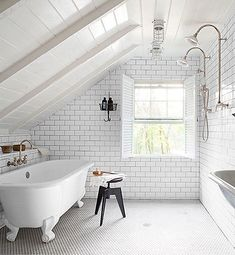Industrial Chic // white bathrooms
