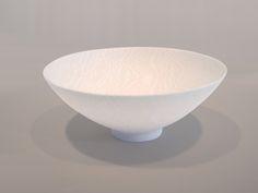 "DOROTHY FEIBLEMAN BOWL  Soft paste porcelain, nerikomi technique  2.5"" high x 5.75"" diameter"