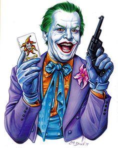 You ever dance with the devil in the pale moonlight Joker JackNicholson # Batman Joker Wallpaper, Batman Artwork, Joker Wallpapers, Joker Comic, Batman Comic Art, Joker Art, Gotham Batman, Batman Robin, Joker Nicholson