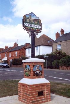 ENGLISH VILLAGE SIGNS | Cogenhoe, Northamptonshire.