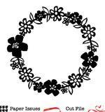 Tropical Florals Wreath Free Cut File