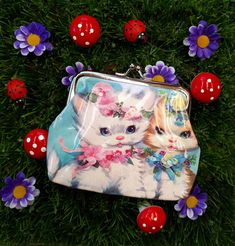 NEW Vintage Kitty Coin Purse