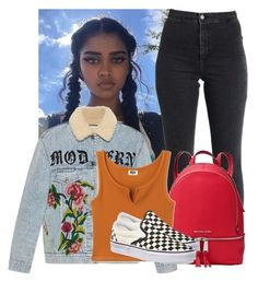"""This ded"" by bbylex23 ❤ liked on Polyvore featuring Gucci, MICHAEL Michael Kors and Vans"