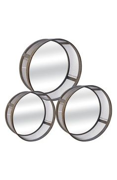 VIP International Round Metal Mirrors (Set of 3) available at #Nordstrom