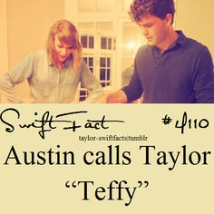 well that's really cute name teffy Taylor Swift Fan Club, Taylor Swift Funny, Taylor Swift Facts, Taylor Swift Pictures, Taylor Alison Swift, Red Taylor, People Change Quotes, Celebrity Travel, Celebrity Kids