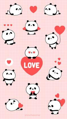 Cute, panda, and love image lock screen wallpaper, wallpaper iphone cute, love Panda Wallpaper Iphone, Cute Panda Wallpaper, Cute Wallpaper For Phone, Kawaii Wallpaper, Animal Wallpaper, Love Wallpaper, Screen Wallpaper, Cute Wallpapers For Ipad, Panda Wallpapers