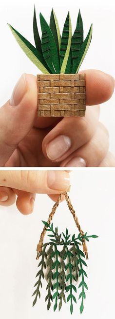 Paper plants by Lissova Craft #papercraft