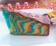 Rezept Regenbogenkuchen von Schokobroetchen - Rezept der Kategorie Backen süß