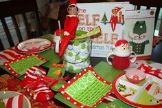 Elf on the shelf... arrival breakfast.