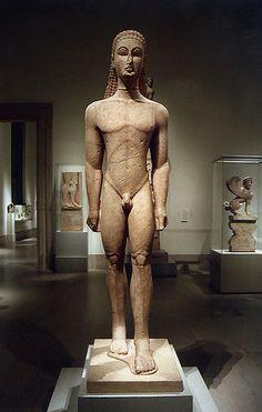 Kouros - escultura grega do período arcaico
