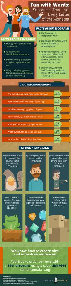 Check out these pangram sentences and you will see just how better your writing gets http://www.sentencemaker.org/fun-with-words-sentences-that-use-every-letter-of-the-alphabet/