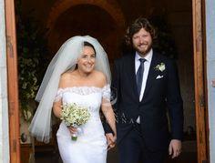 Claudia nel giorno più bello della sua vita indossa un abito da sposa di L'Atelier Elena Colonna