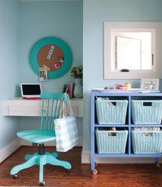 Sea Foam Blue Office Nook