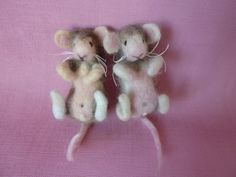 OOAK Needle Felted Baby Rat / Mouse 'Pip and by BayTreeFelting, £40.00