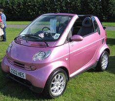 OMG PINK convertible smart car too cute!!