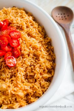 Instant Pot Mexican Rice is cooked in just 15 minutes and super delicious!     mynameissnickerdoodle.com