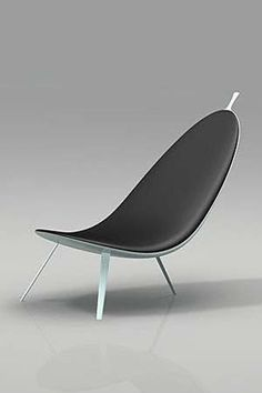 Organic Lounge Chair l Michael CK Chan Furniture Styles, Cool Furniture, Furniture Design, Office Seating, Take A Seat, Mid Century Modern Design, Sofa Chair, Modern Chairs, Rocking Chair