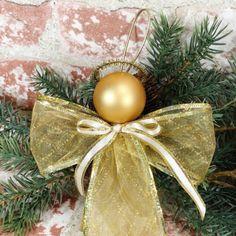 How to Make Ribbon Angel Ornaments - Crafty Morning