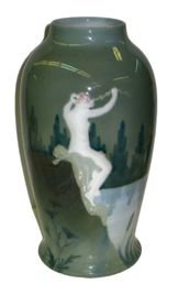 Laura Kriesch Art Nouveau Pate-Sur-Pate Porcelain Vase for Rosenthal Art Nouveau, Art Deco Design, China Porcelain, Vintage Designs, Glass Art, Pottery, Ceramics, Antiques, Vases